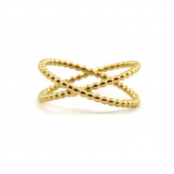 Dots Crossed Ring
