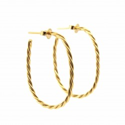 Small size Oval Braided Hoops